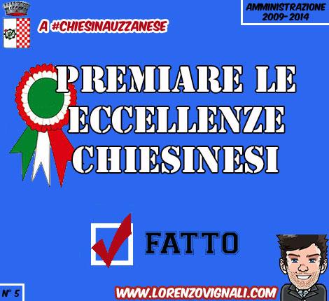 Premiare le Eccellenze Chiesinesi.