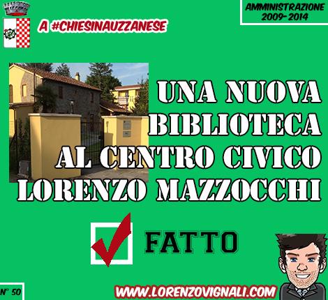 Una nuova biblioteca al Centro Civico Lorenzo Mazzocchi.