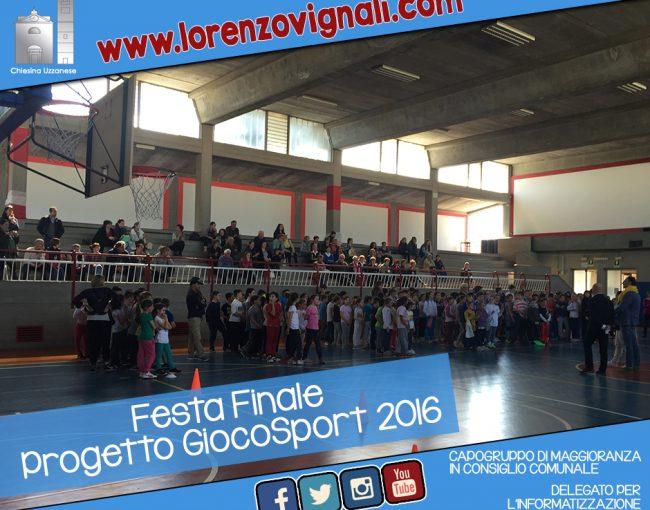 Festa finale Giocosport 2016.