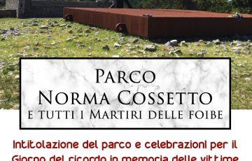 #ChiesinaUzzanese, l'amministrazione intitola un parco a Norma Cossetto, martire delle foibe.